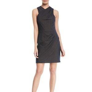 Halston Heritage Wrapped Fitted-Draped Dress